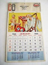 "1948 ""Esso Gasoline"" Ad Calendar /w Pics of the 40's by Russell Sambrook *"