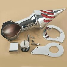 Chrome Spike Air Cleaner Intake Filter For Honda Shadow VT600C VLX 600 1999-2012