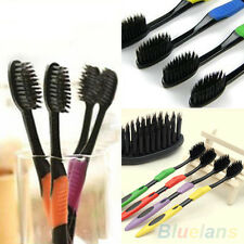 4X Fashion Bamboo Charcoal Nano Brush Oral Care Double Ultra Soft Toothbrushes