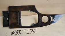 BMW 5 SERIES E60 E61 POPLAR WOODGRAIN STRIP CENTRE CONSOLE INTERIOR TRIM 2003-07