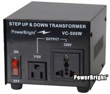 500W Watt Step Up Down AC 110V to 220V Voltage Converter Transformer Heavy Duty