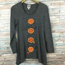 Ivy Jane Women's Tunic Top Shirt S Long Sleeve Embroidered Lagenlook Small