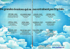 PUBLICITE ADVERTISING 065  1977  AIR FRANCE   ( 2 pages) USA ASIE AFRIQUE