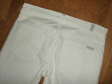 7 Seven For All Mankind Bootcut White Boot Cut Stretch Jeans 27 30.5 UK 8-10