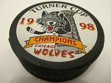 American Hockey League Chicago Wolves Turner Cup Champions Hockey Puck 1998