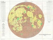 GEOGRAPHY MAP ILLUSTRATED ANTIQUE USGS PHOTOGEOLOGIC MOON POSTER PRINT BB4505A