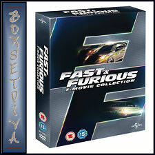 FAST AND FURIOUS - MOVIE COLLECTION 1 2 3 4 5 6 & 7 ***BRAND NEW DVD BOXSET***