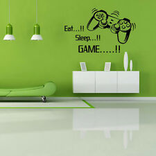 Eat Sleep Game vinyl wall art stickers  Bedroom Boys Girls Decal 43*57cm