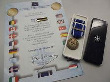 (schbü) NATO  Operation FORMER YUGOSLAVIA  mit original verliehener Urkunde