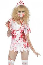 NEW ZOMBIE NURSE BETTY HALLOWEEN COSTUME ROCKY HORROR SHOW LEG AVENUE M/L DRESS