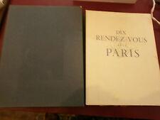 Bauër Dix rendez-vous avec Paris Aquarelles Gaston Barret édition originale N°
