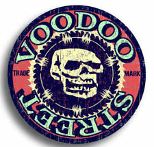 SKULL STICKER OLD SKOOL, Voodoo Street, waterproof, quality print, rat rod, v8..