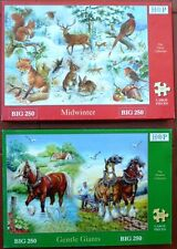 House of Puzzles BIG 250 Midwinter and Gentle Giants large piece puzzles
