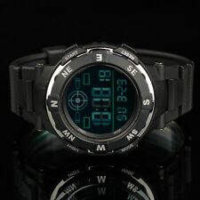 INFANTRY Mens LCD Digital Wrist Watch Date Day Stopwatch Army Sport Black Rubber