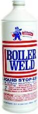 HVAC BOILER WELD STOP LEAK LIQUID BOILER SEALER FOR STEAM SYSTEMS QUART SIZE