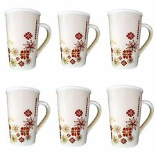 Set X 6~Starbucks Holiday Red Gold Flowers Christmas Cup mug floral 12 Oz 2013