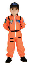 Child Astronaut Costume Orange Flight Suit American Heroes Size Large 12-14