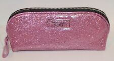 VICTORIA'S SECRET SPARKLY PINK BEAUTY BAG MAKEUP COSMETIC CASE TRAVEL GLITTER