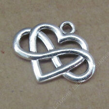 10x Tibetan Silver Heart Infinity Friendship Pendant Charms Connectors /751