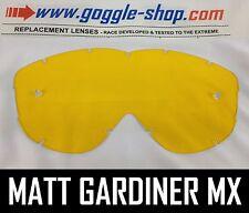 Goggle-shop Lente De Repuesto Para Spy Alloy Targa 2 Motocross Goggles Amarillo Tint