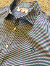 PENGUIN BY MUNSING WEAR PURPLE STRIPE SHORT SLEEVE SUMMER SHIRT M MEDIUM COST£75