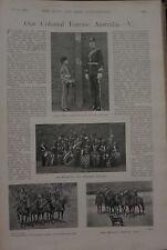 1898 BOER WAR ERA PRINT ~ AUSTRALIA COLONIAL FORCES CAPTAIN IRVING FEMALE LABOUR