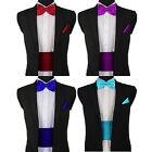 UK Wedding Cummerbund Bow Tie Set Italian Satin Boy Children's Necktie Cravat