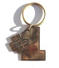 NOS Vintage 1970'S Gold Color #1 Key Ring Key Chain by RUSS
