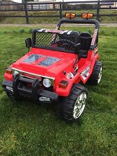 KIDS 12V RAPTOR ELECTRIC RIDE ON CAR 4X4 JEEP | 2-SEATS | REMOTE CONTROL | RED