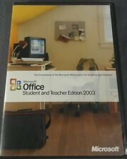Microsoft Office Student and Teacher Edition 2003 w/Key Word Excel Powerpoint PC