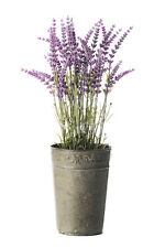 41cm Artificial Lavender Plant In Decorative Metal Pot - Lavandula Flowers