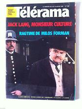 Télérama 9/01/1982; Jack Lang/ Ragtime de Milos Forman/ Ray Bradbury/ Sabatier P