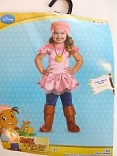 NEW Jake and the Neverland Pirates Izzy Deluxe Toddler Halloween Costume size 2T