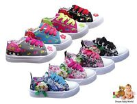 BRAND NEW Shoes Kids Girls Trainers Canvas Lace Up/Zip size 6 - 10UK