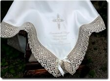 BAPTISM Christening white ivory BLANKET lace vintage raditional boys girl 5