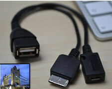 Micro USB Host OTG CABLE & USB POWER CHARGE PER SAMSUNG GALAXY NOTE 3 NOTE 4 S5