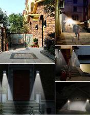 6 LED Solar Powered PIR Motion  Sensor Wall Light Outdoor Waterproof Garden Lamp