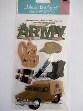 JOLEE'S BOUTIQUE STICKERS - ARMY with title jeep