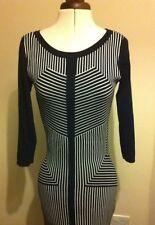 Star by Julien Macdonald knitted black and white dress size 8