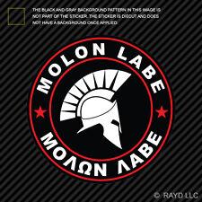 Molon Labe Red Circle Sticker Decal Self Adhesive Vinyl Come Take Them 2A v4e