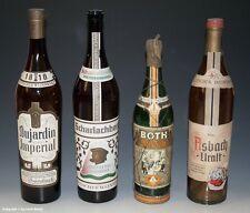 4 x leere Schauflaschen - Dekoflaschen zur Schaufensterdekoration um 1960-65 !?
