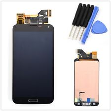 For Samsung Galaxy S5 i9600 G900A Black LCD Screen Touch Digitizer + Home Flex