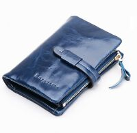 Women's Soft Genuine Real Leather Trifold Purse Fashion Designer Wallet New