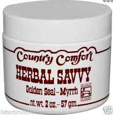 NEW COUNTRY COMFORT HERBAL SAVVY GOLDEN SEAL MYRRH BODY CARE HEALTHY OINTMENT