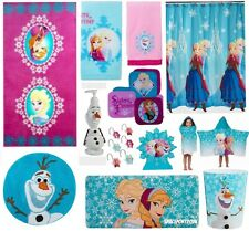 28pc Complete FROZEN Anna+Elsa BATHROOM SET Shower Curtain+Towels+Rug+Bath Mat