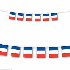 France Flag Bunting French Football Olympics Banner Flags 10m