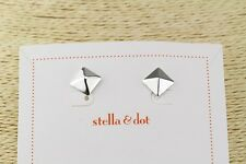 Authentic New Stella and dot SILVER Cleopatra Studs Free shipping