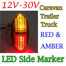 Red/Amber 4 Led Side Marker Tail Light Lamp Clearance Trailer Truck 12V 24V