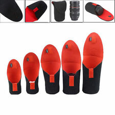 5pcs Neoprene Soft Protector Lens Pouch Bag Case for Canon for Nikon Camera