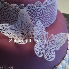 Edible Sugar Lace Large Butterflies Silicone Mat Mould Sugarcraft Cake Topper